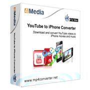 4Media YouTube to iPhone Converter for Mac