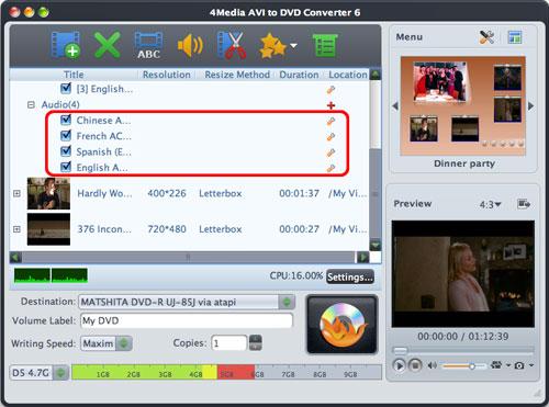 AVI to DVD burning Mac software