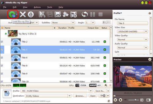 Convert Blu-ray to hard drive