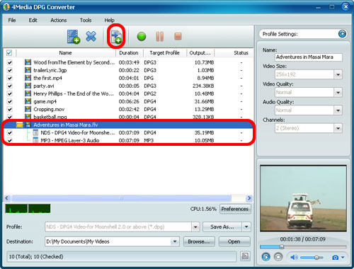 How to convert DPG file