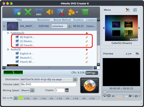 Burn AVI, MPEG to DVD for Mac