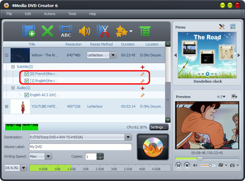 Create DVD from WMV videos