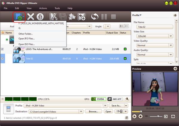 Convert DVD to MPEG-1