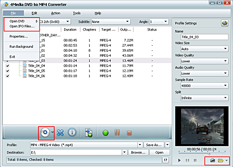 How to convert dvd to Archos AVI