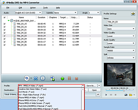 How to convert DVD to MPEG-4