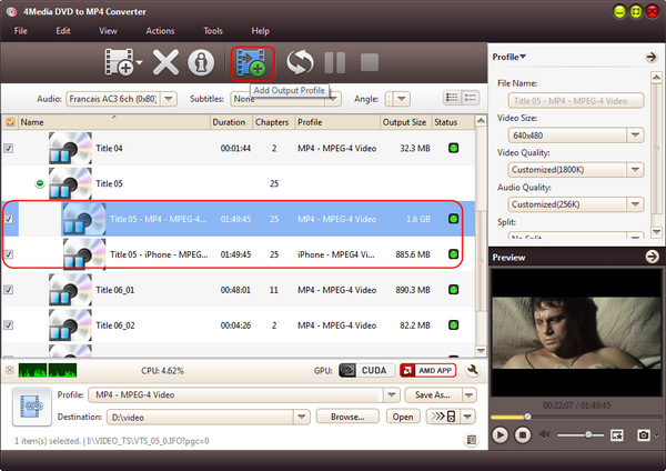 How to convert DVD to MP4