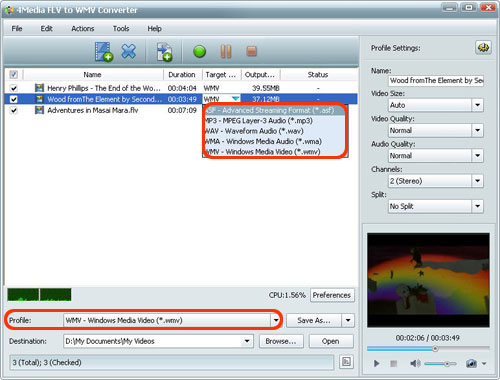 FLV to WMV Converter Tool