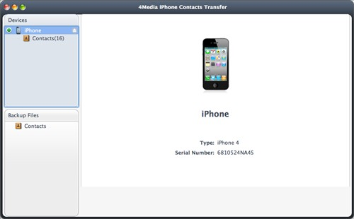 transfer Contacts from iphone to Mac
