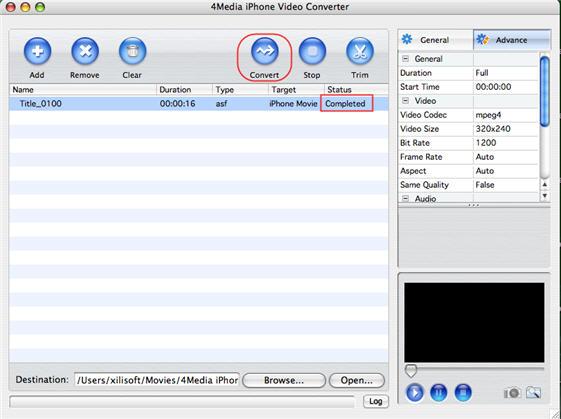 Convert Video to iPhone on Mac