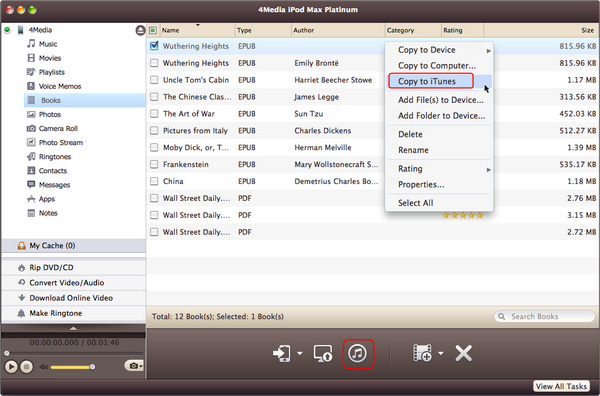 Copy files from Mac to your iPod/iPhone