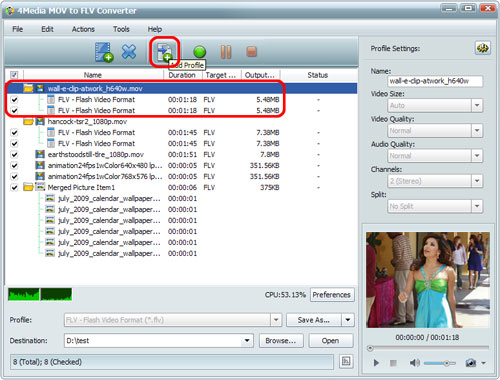 How to convert MOV files to FLV