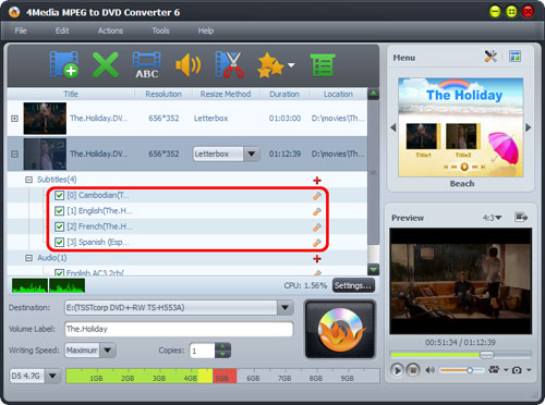 How to convert MPEG to DVD