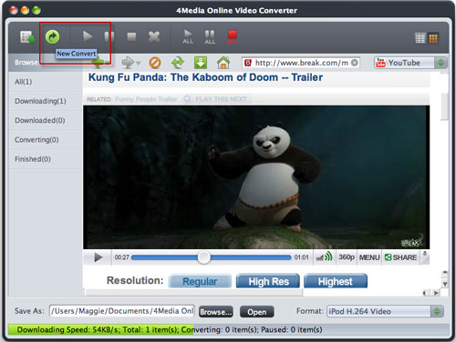 How convert online videos on Mac