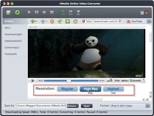 How to convert online FLV videos