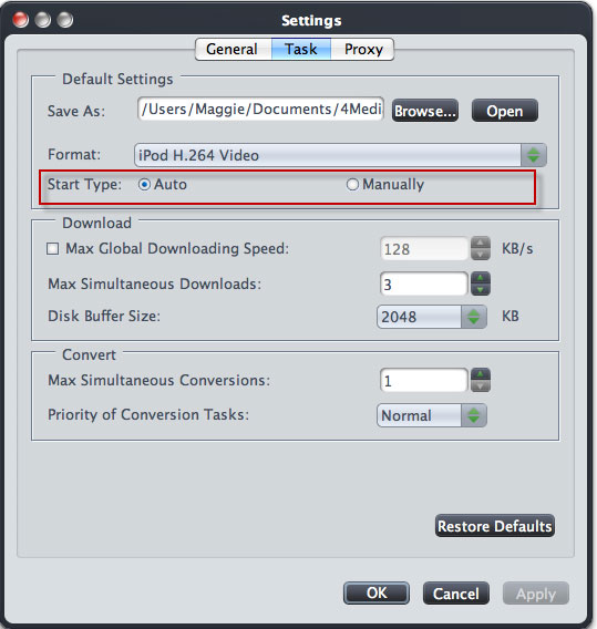Convert Online FLV on Mac