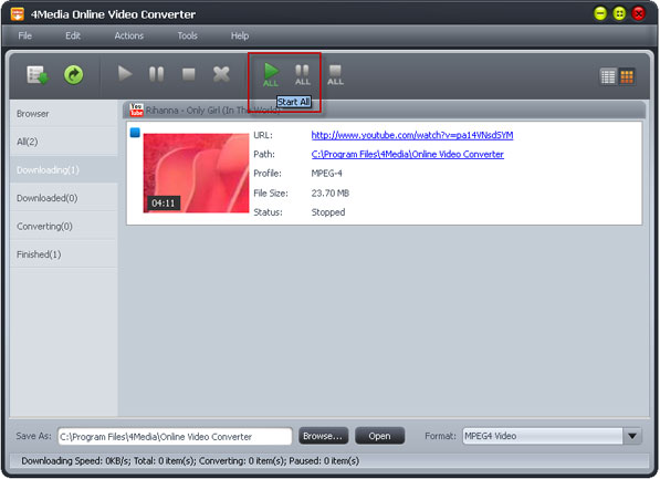 Convert Dailymotion online videos