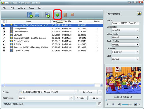 Convert Video file to another format