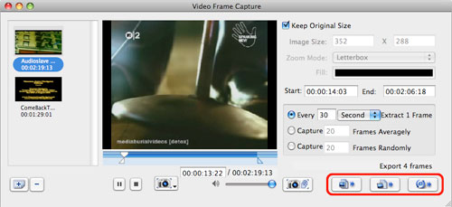 Capture frame from videos on a Mac