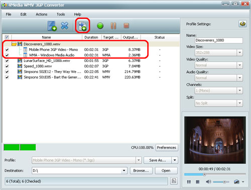 3GP to WMV converting