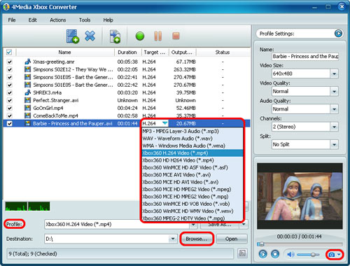 Convert video to Xbox MP4