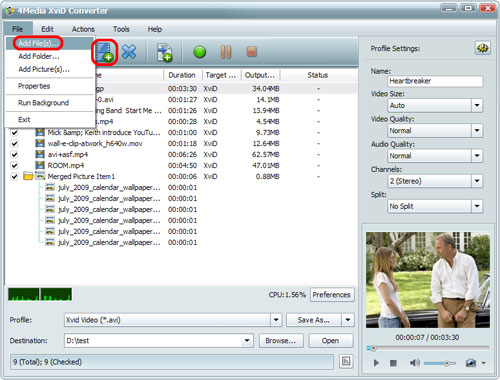 How to convert MP4 to XviD