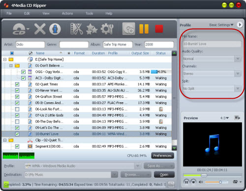 How to convert CD to MP3
