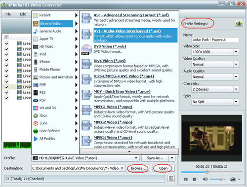 Convert HD to SD, HD Video Converter